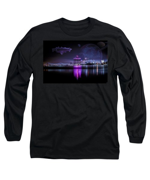 Long Sleeve T-Shirt featuring the photograph Detroit Worlds by Nicholas  Grunas