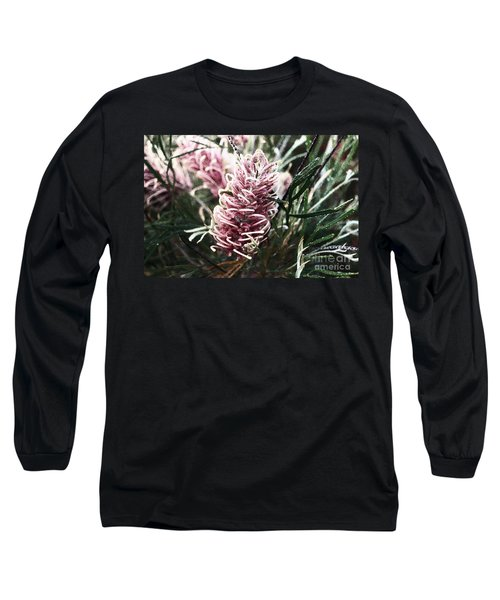 Dew Covered Grevillea Long Sleeve T-Shirt