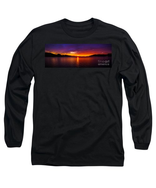 Dexter Lake Oregon Sunset 2 Long Sleeve T-Shirt