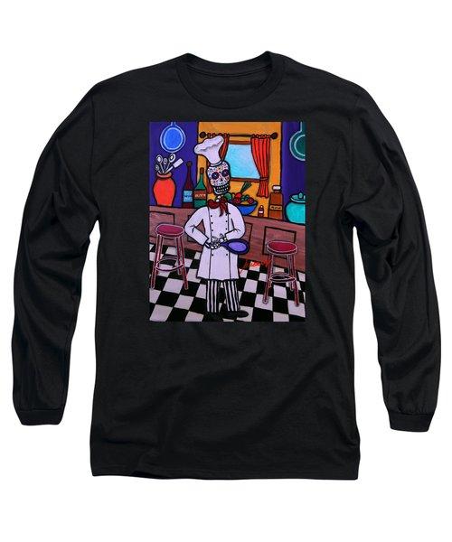 Dia De Los Muertos Chef Long Sleeve T-Shirt