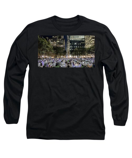 Diner En Blanc New York 2013 Long Sleeve T-Shirt