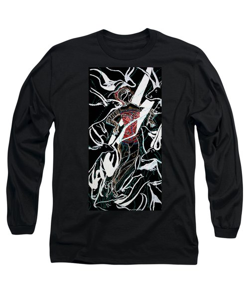Long Sleeve T-Shirt featuring the painting Dinka Dance by Gloria Ssali