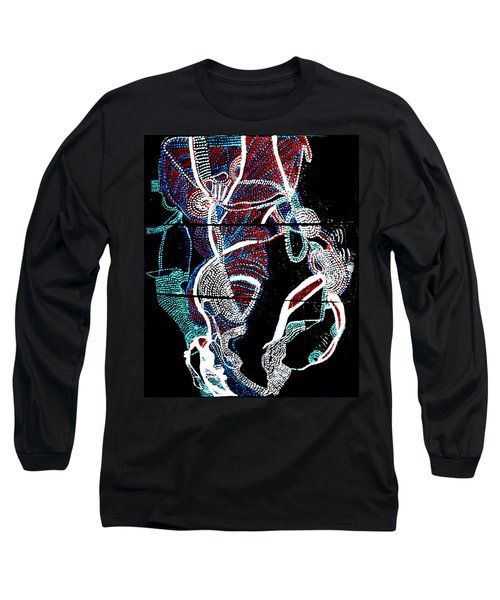 Long Sleeve T-Shirt featuring the painting Dinka by Gloria Ssali