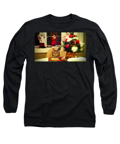 Dinner Time Long Sleeve T-Shirt by Catie Canetti