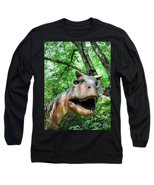Dinosaur Long Sleeve T-Shirt by Kristin Elmquist