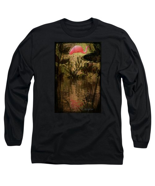 Long Sleeve T-Shirt featuring the digital art Dinosaurs Among Us by Delight Worthyn