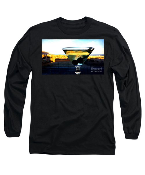 Dirty Martini On Beach Long Sleeve T-Shirt