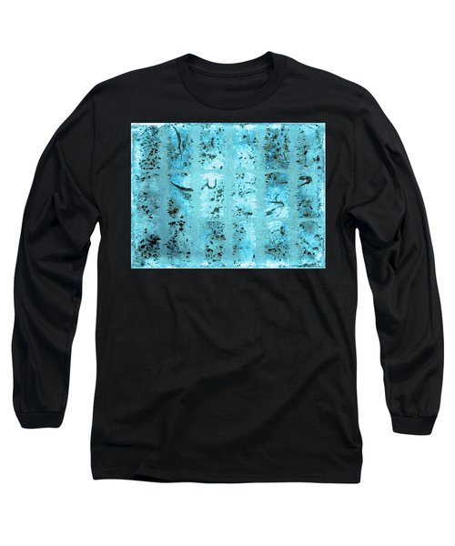 Long Sleeve T-Shirt featuring the photograph Dirty Snow Grunge by Paula Ayers
