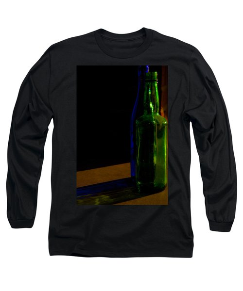Discarded Bottles 2 Long Sleeve T-Shirt by Mark Alder