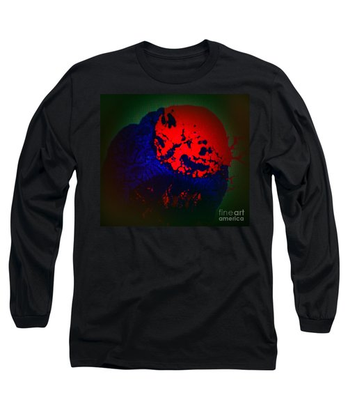 Long Sleeve T-Shirt featuring the painting Divide by Jacqueline McReynolds