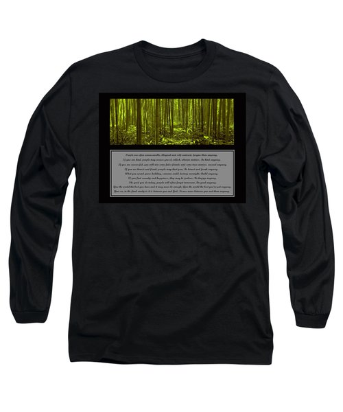 Do It Anyway Bamboo Forest Long Sleeve T-Shirt by David Dehner