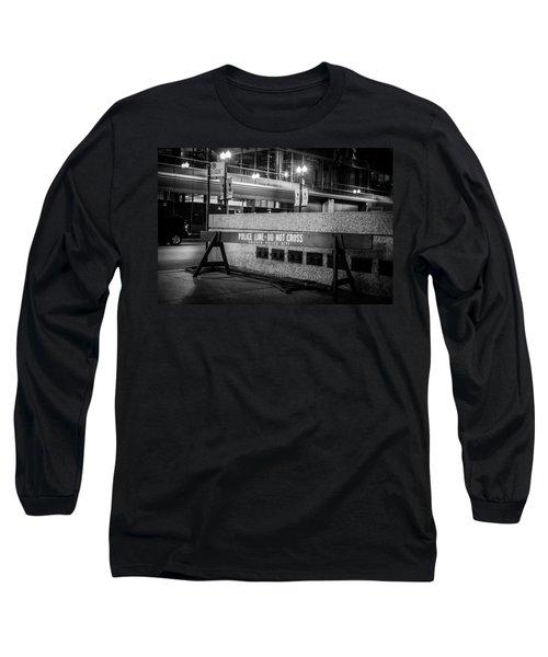 Do Not Cross Long Sleeve T-Shirt by Melinda Ledsome