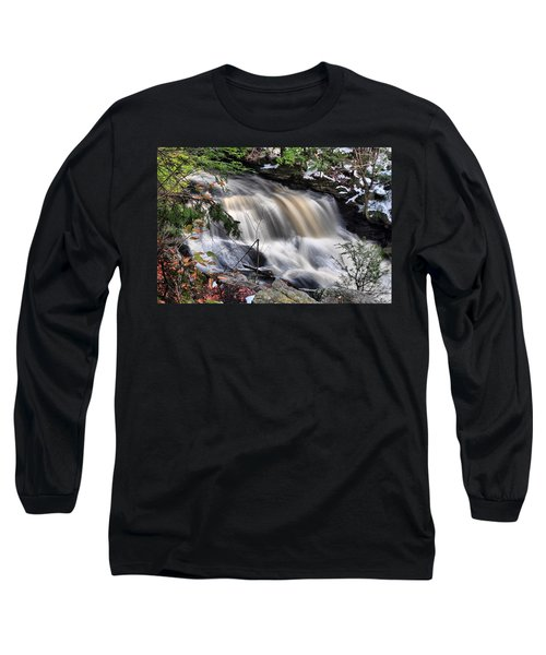 Long Sleeve T-Shirt featuring the photograph Doane's Lower Falls In Central Mass. by Mitchell R Grosky