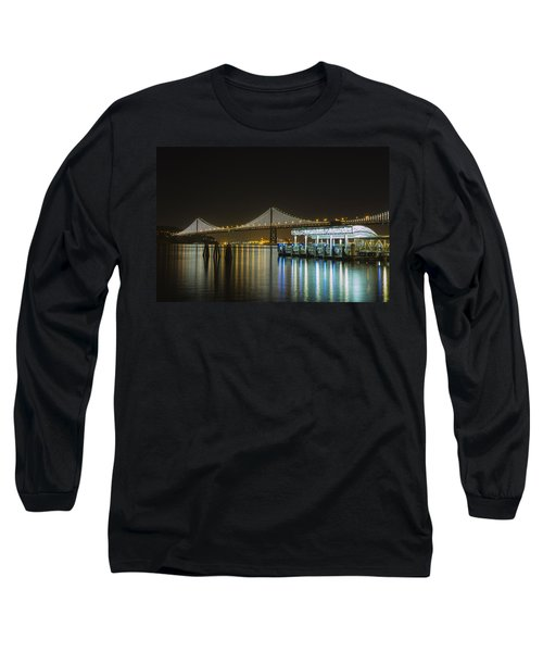 Docks And Bay Lights Long Sleeve T-Shirt