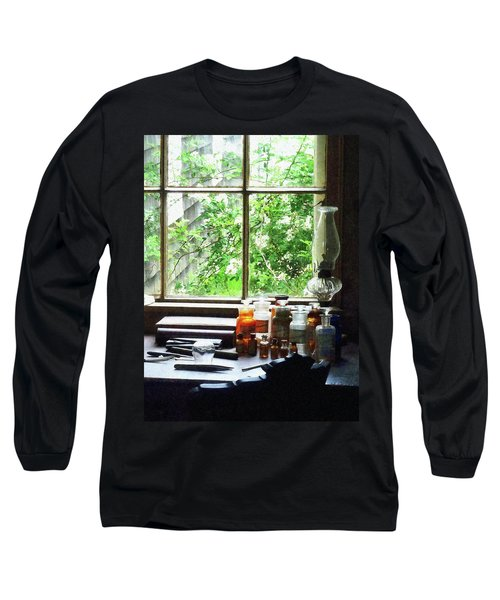 Long Sleeve T-Shirt featuring the photograph Doctor - Medicine And Hurricane Lamp by Susan Savad