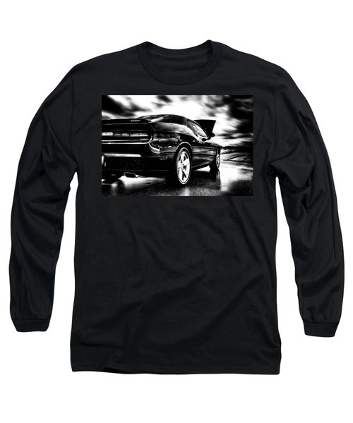 Dodge Challenger Srt In Hdr Long Sleeve T-Shirt by Michael White