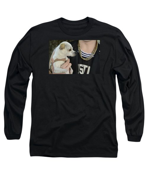 Long Sleeve T-Shirt featuring the photograph Dog And True Friendship 1 by Teo SITCHET-KANDA