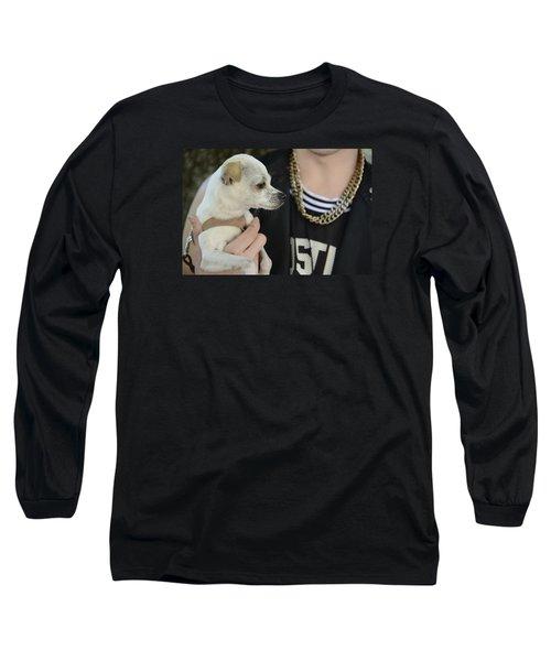 Dog And True Friendship 1 Long Sleeve T-Shirt by Teo SITCHET-KANDA