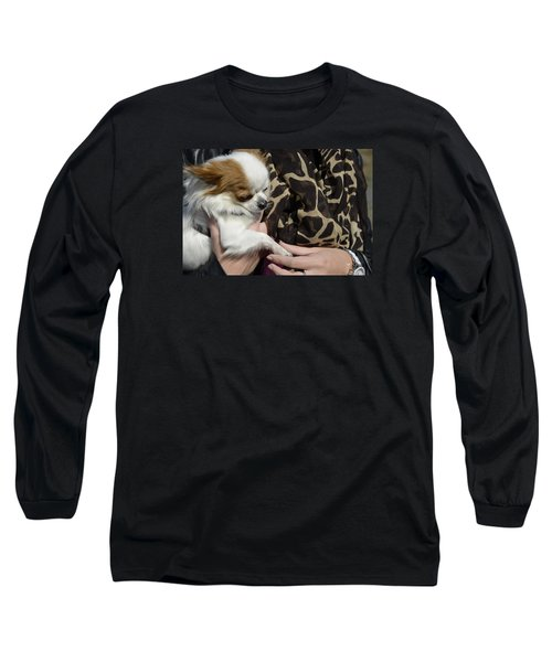Long Sleeve T-Shirt featuring the photograph Dog And True Friendship 3 by Teo SITCHET-KANDA