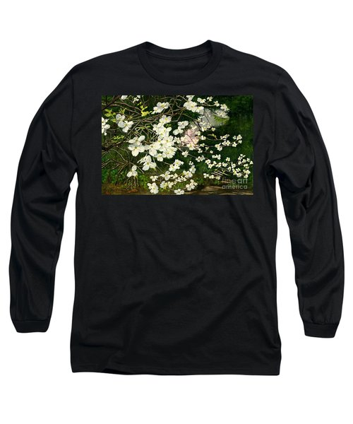 Long Sleeve T-Shirt featuring the painting Dogwoods Virginia by Melly Terpening