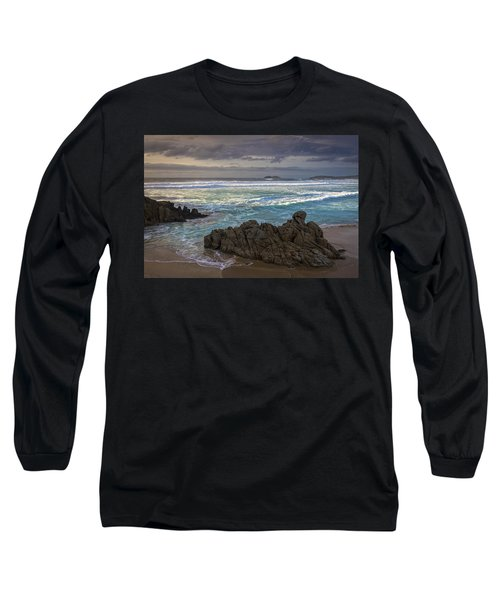 Long Sleeve T-Shirt featuring the photograph Doninos Beach Ferrol Galicia Spain by Pablo Avanzini