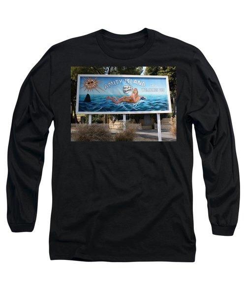 Don't Go In The Water Long Sleeve T-Shirt by David Nicholls