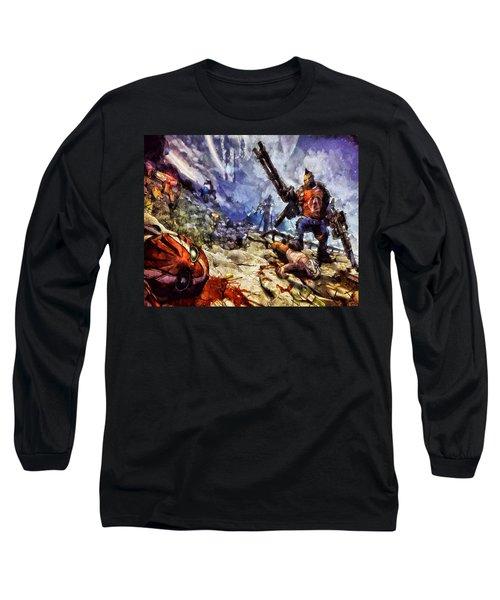 Don't Mess With The Gunserker Long Sleeve T-Shirt by Joe Misrasi