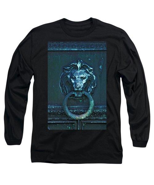 Door Knocker Long Sleeve T-Shirt by Rowana Ray