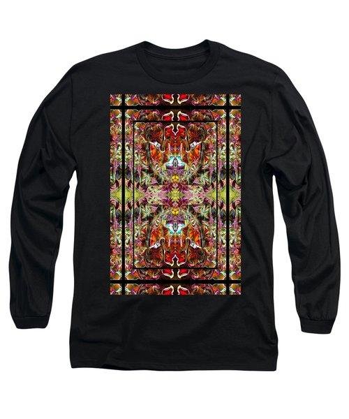 Doorways Thru Sacred Bridge Long Sleeve T-Shirt by Deprise Brescia