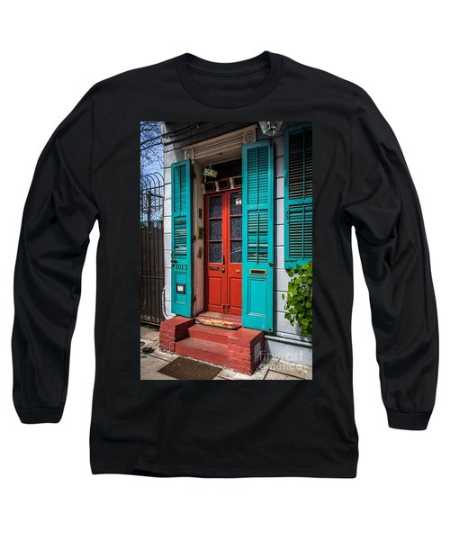 Double Red Door Long Sleeve T-Shirt by Perry Webster