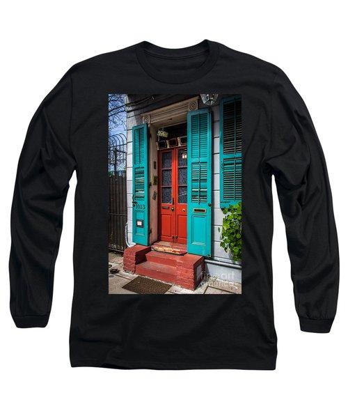Double Red Door Long Sleeve T-Shirt