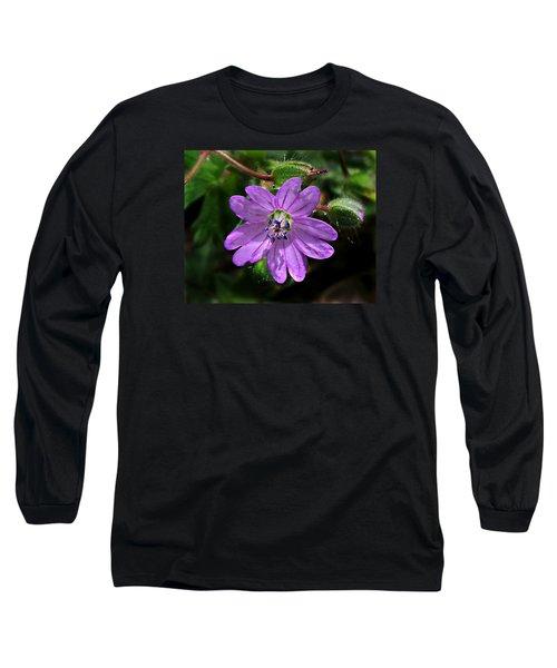 Wild Dovesfoot Cranesbill Long Sleeve T-Shirt