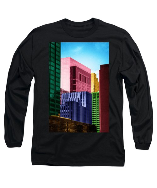 Downtown Building Blocks Long Sleeve T-Shirt