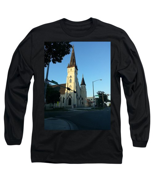 Long Sleeve T-Shirt featuring the photograph Downtown Worship by Caryl J Bohn