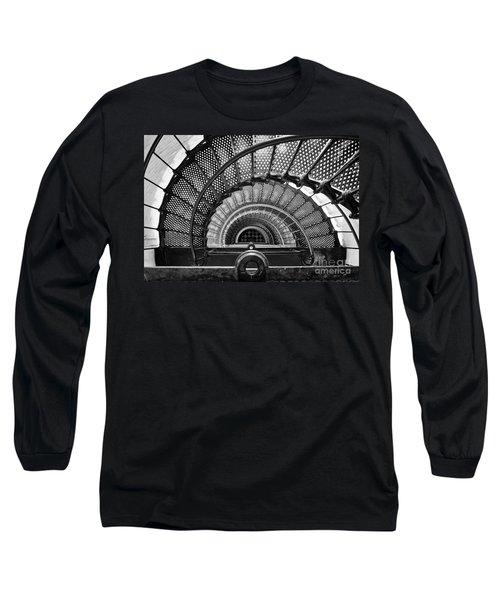 Downward Spiral Bw Long Sleeve T-Shirt