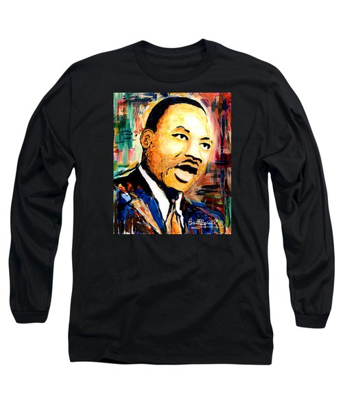 Dr. Martin Luther King Jr Long Sleeve T-Shirt by Everett Spruill