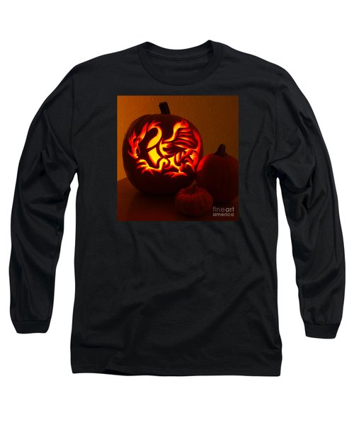 Dragon Light Of Fall Long Sleeve T-Shirt by Gem S Visionary