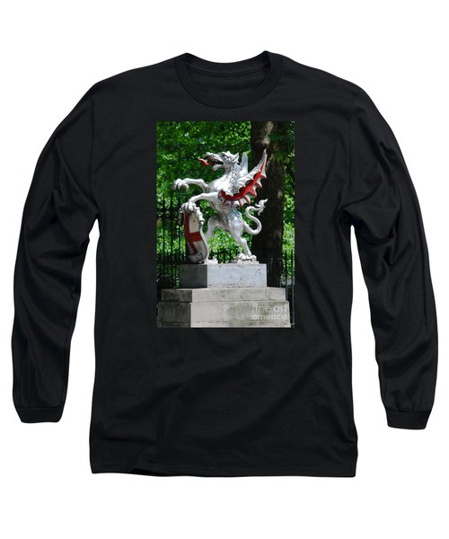 Dragon With St George Shield Long Sleeve T-Shirt