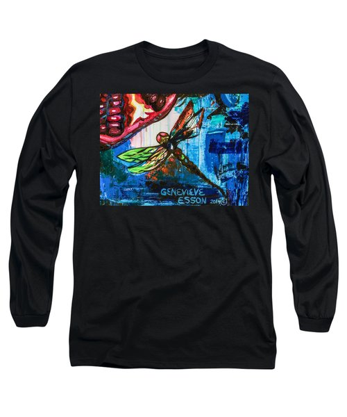 Dragonflies Abstract 4 Long Sleeve T-Shirt