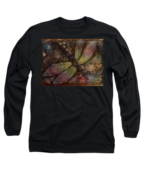Long Sleeve T-Shirt featuring the painting Dragonfly by Megan Walsh