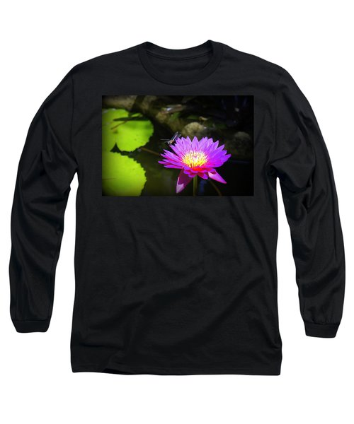 Long Sleeve T-Shirt featuring the photograph Dragonfly Resting by Laurie Perry