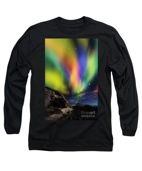Dramatic Aurora Long Sleeve T-Shirt