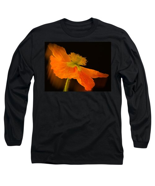 Dramatic Orange Poppy Long Sleeve T-Shirt