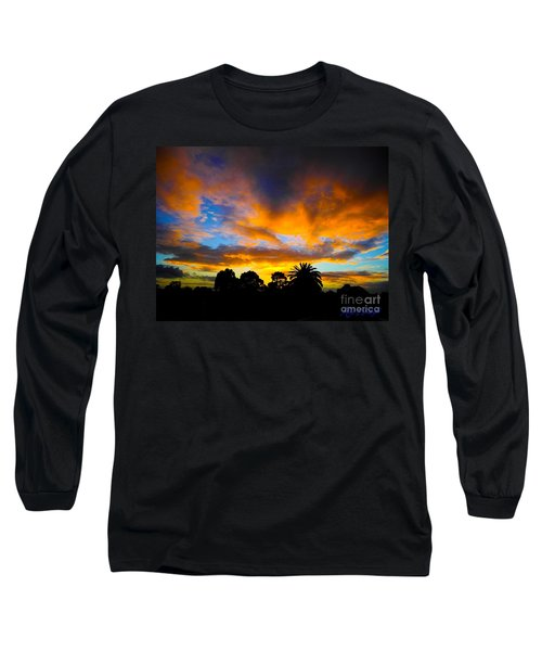 Dramatic Sunset Long Sleeve T-Shirt by Mark Blauhoefer