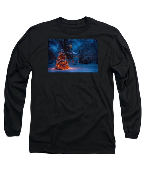 Christmas At The Richmond Round Church Long Sleeve T-Shirt by Jeff Folger
