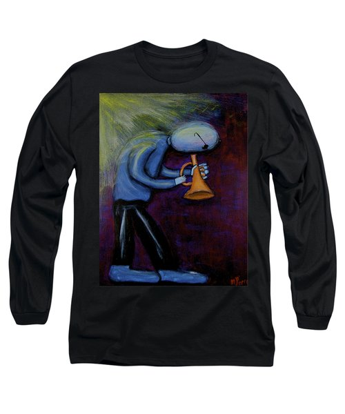 Long Sleeve T-Shirt featuring the painting Dreamers 99-001 by Mario Perron