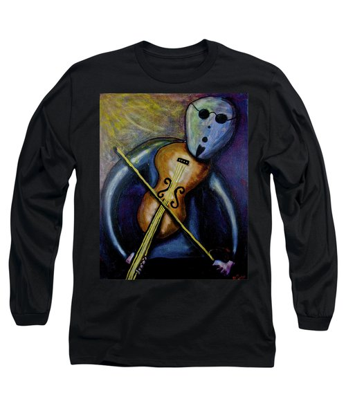 Long Sleeve T-Shirt featuring the painting Dreamers 99-002 by Mario Perron