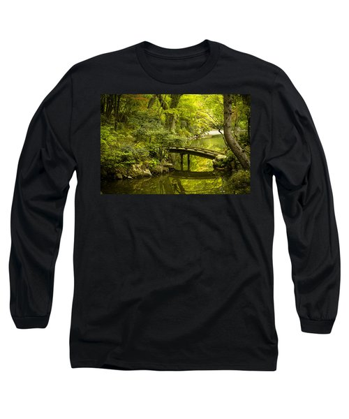 Dreamy Japanese Garden Long Sleeve T-Shirt by Sebastian Musial