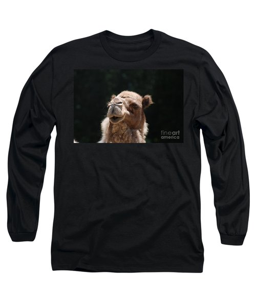 Dromedary Camel Face Long Sleeve T-Shirt