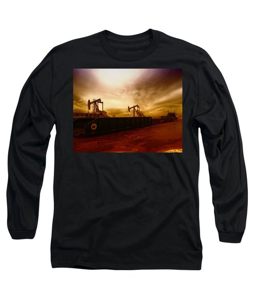 Dropping A Tank Long Sleeve T-Shirt